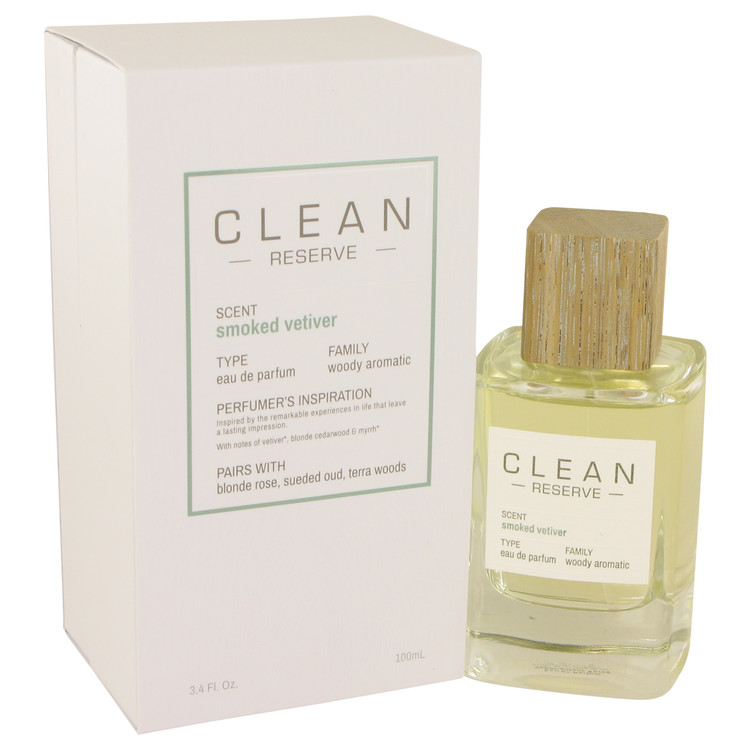 Clean Smoked Vetiver by Clean for Women Eau De Parfum Spray 3.4 oz