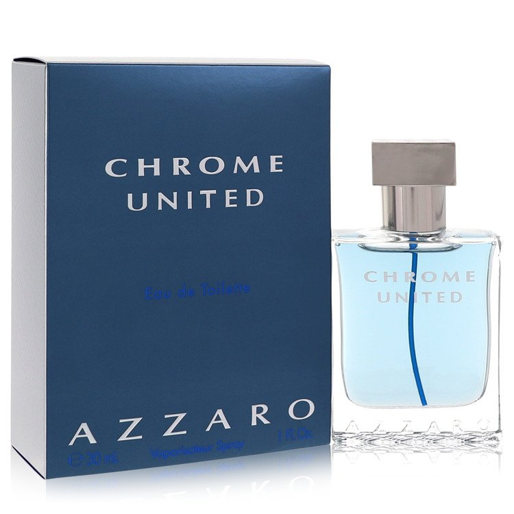 Chrome United by Azzaro for Men Eau De Toilette Spray 1 oz