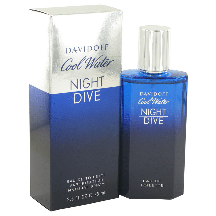 Cool Water Night Dive by Davidoff for Men Eau De Toilette Spray 2.5 oz
