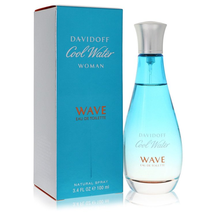 Cool Water Wave by Davidoff for Women Eau De Toilette Spray 3.4 oz