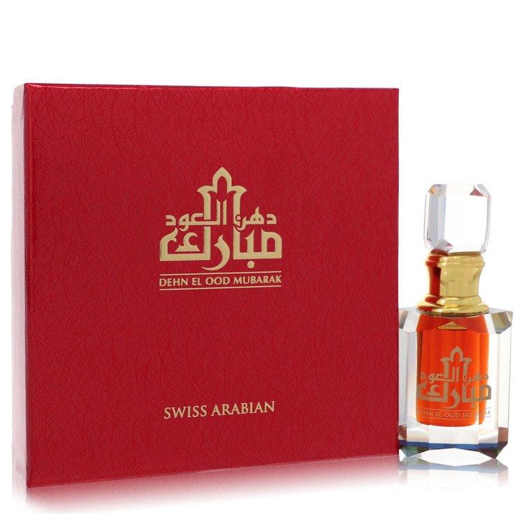 Dehn El Oud Mubarak by Swiss Arabian Men's Extrait De Parfum (Unisex) .20 oz