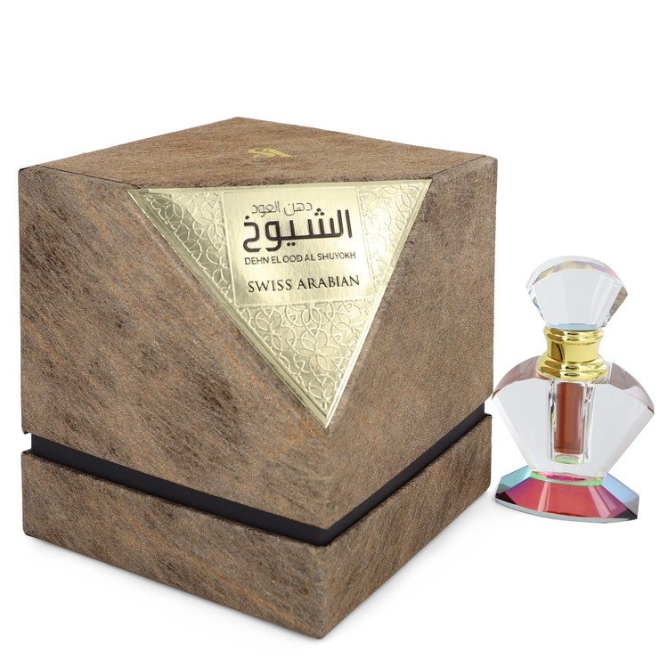 Dehn El Oud Al Shuyokh by Swiss Arabian Men's Pure Perfume (Unisex) .20 oz