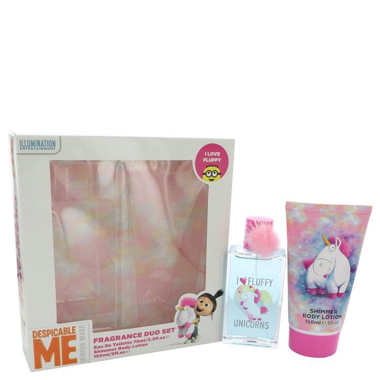 I Love Fluffy Unicorns Despicable Me Minion Made by Corsair for Women Gift Set -- 2.5 oz Eau De Toilette Spray + 5 oz Body Lotio