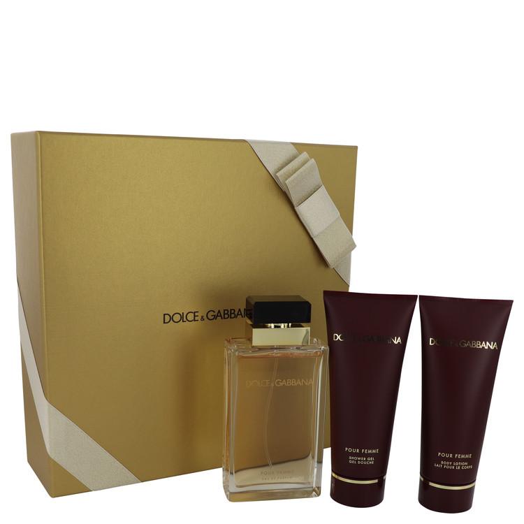 Dolce & Gabbana Pour Femme by Dolce & Gabbana for Women Gift Set -- 3.4 oz Eau De Parfum Spray + 3.4 oz Shower Gel + 3.4 oz Body