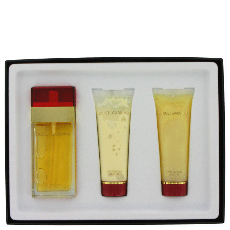 Dolce & Gabbana for Women, Gift Set (1.7 oz EDT Spray + 1.7 oz Shower Gel + 1.7 oz Body Milk)