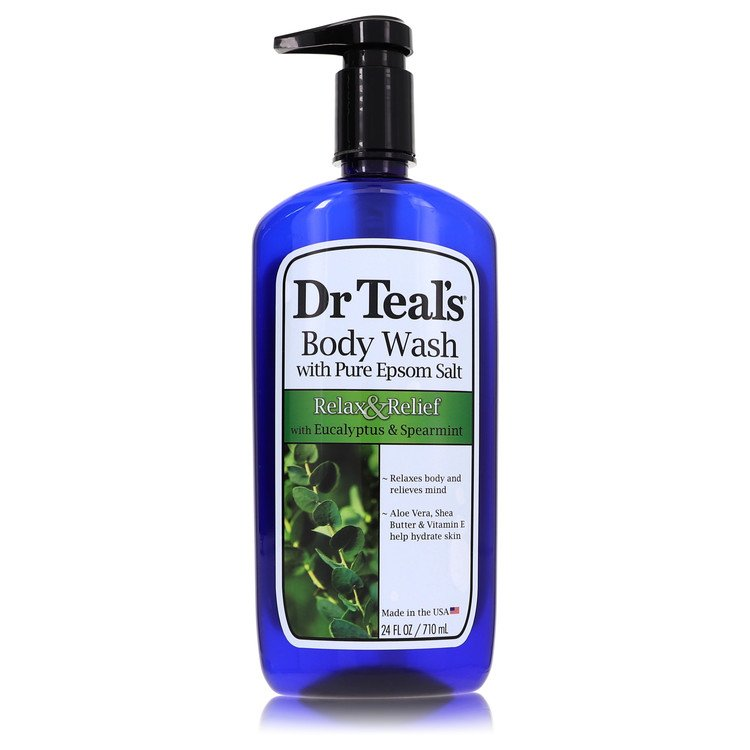 Dr Teal's Body Wash With Pure Epsom Salt by Dr Teal's for Women Body Wash with pure epsom salt with eucalyptus & Spearmint 24 oz