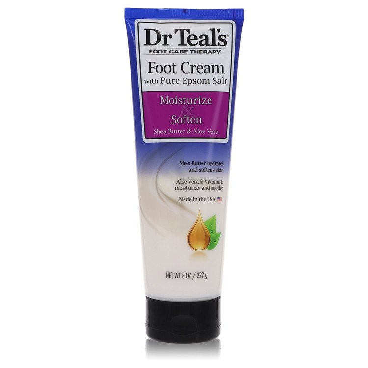 Dr Teal's Pure Epsom Salt Foot Cream by Dr Teal's for Women Pure Epsom Salt Foot Cream with Shea Butter & Aloe Vera & Vitamin E