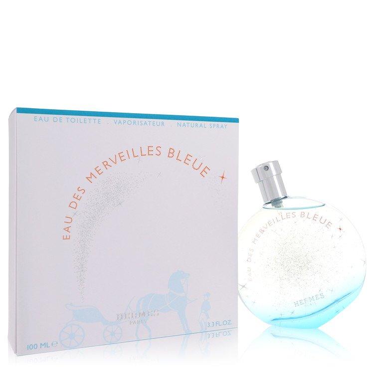 Eau des Merveilles Bleue by Hermes for Women Eau De Toilette Spray 3.4 oz