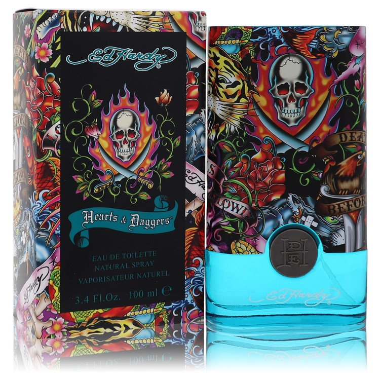 Ed Hardy Hearts & Daggers Cologne 3.4 oz EDT Spay for Men