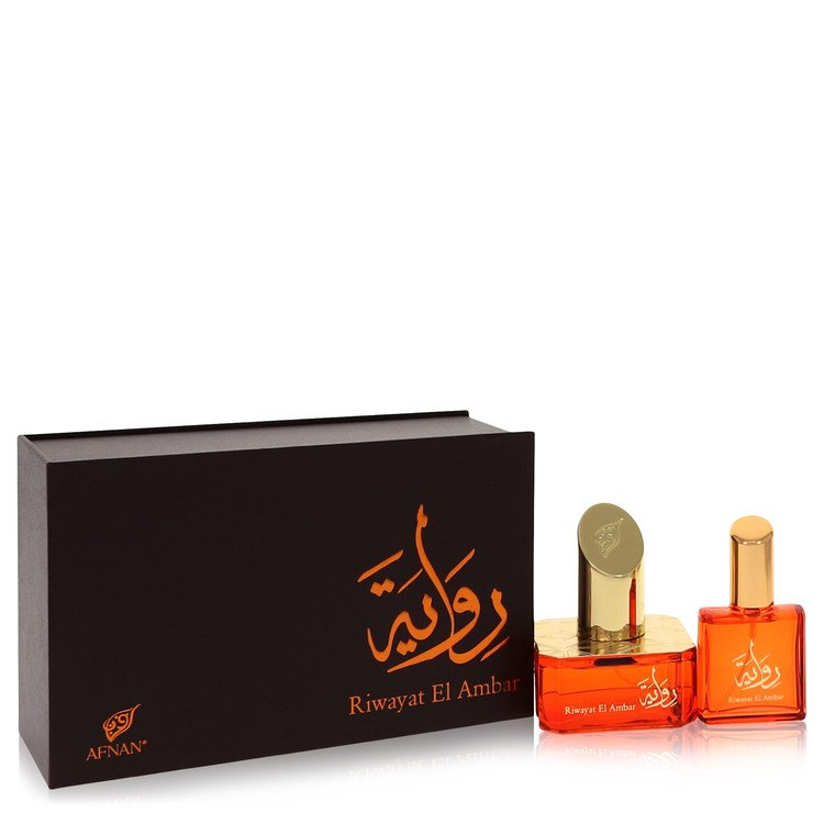 Riwayat El Ambar by Afnan for Women Eau De Parfum Spray + Free .67 oz Travel EDP Spray 1.7 oz