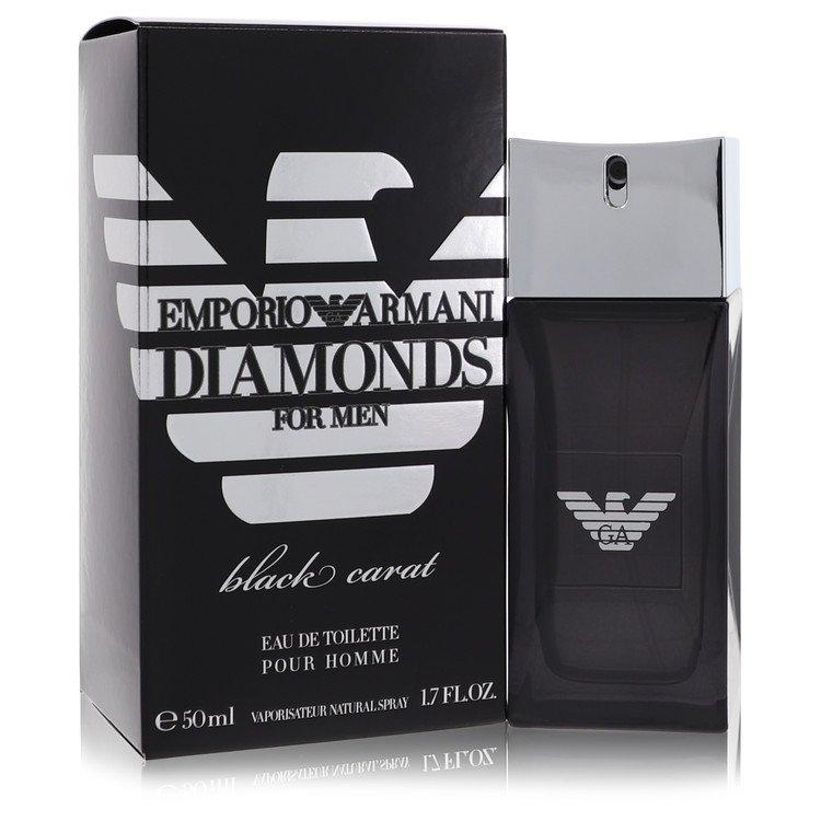 Emporio Armani Diamonds Black Carat by Giorgio Armani –  Eau De Toilette Spray 1.7 oz 50 ml for Men