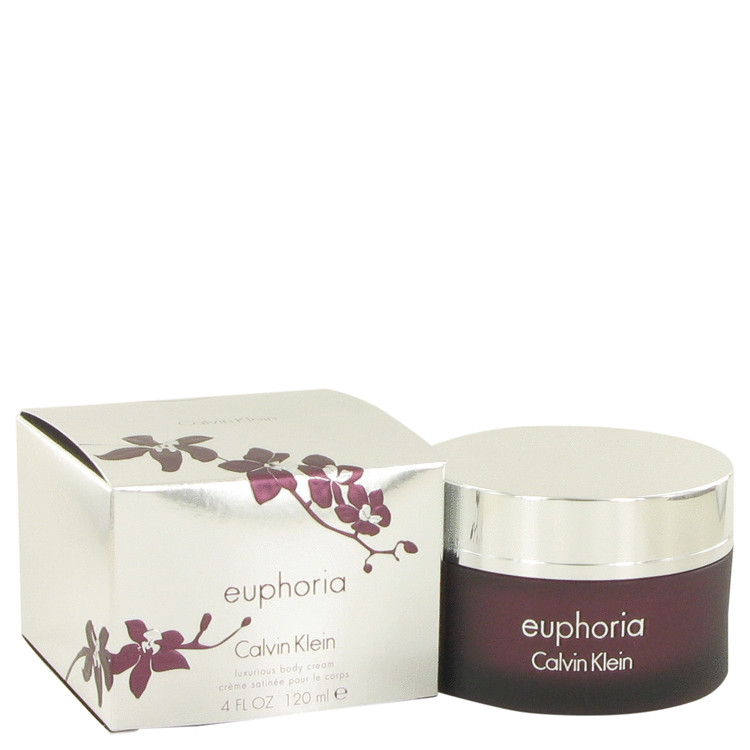 Euphoria Body Cream by Calvin Klein 4 oz Body Cream for Women