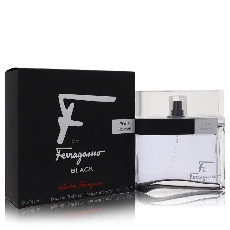 F Black by Salvatore Ferragamo Men's Eau De Toilette Spray 3.4 oz