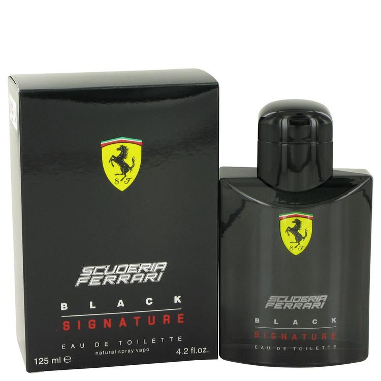 Ferrari Scuderia Black Signature by Ferrari for Men Eau De Toilette Spray 4.2 oz
