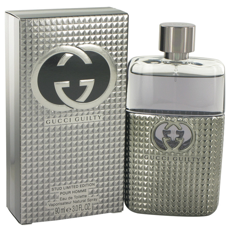 Gucci Guilty Stud Cologne by Gucci 3 oz EDT Spray for Men