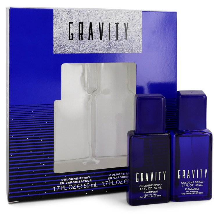 Gravity by Coty for Men, Gift Set (Two 1.7 oz Cologne Sprays)