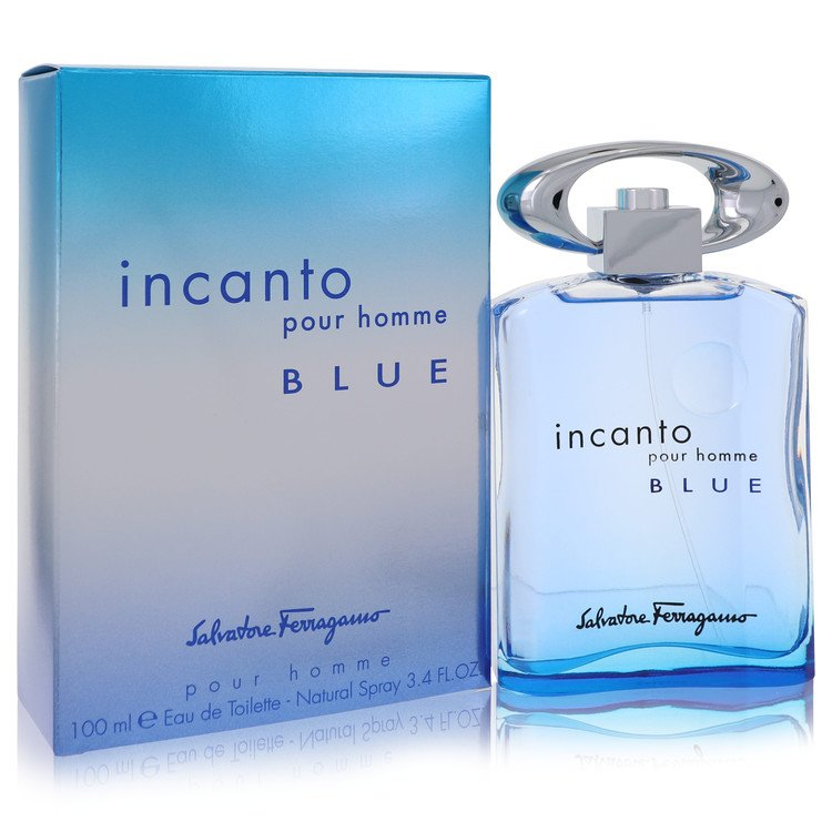 Incanto Blue by Salvatore Ferragamo for Men Eau De Toilette Spray 3.4 oz