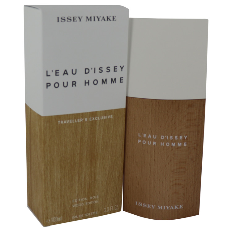 L\'EAU D\'ISSEY Fleur De Bois (Limited Wood Edition) by Issey Miyake for Men Eau De Toilette Spray 3.3 oz
