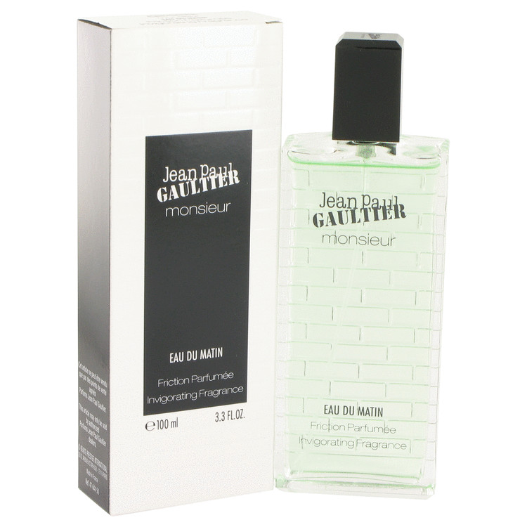Jean Paul Gaultier Monsieur Eau Du Matin by Jean Paul Gaultier for Men Friction Parfumee Invigorating Fragrance 3.3 oz