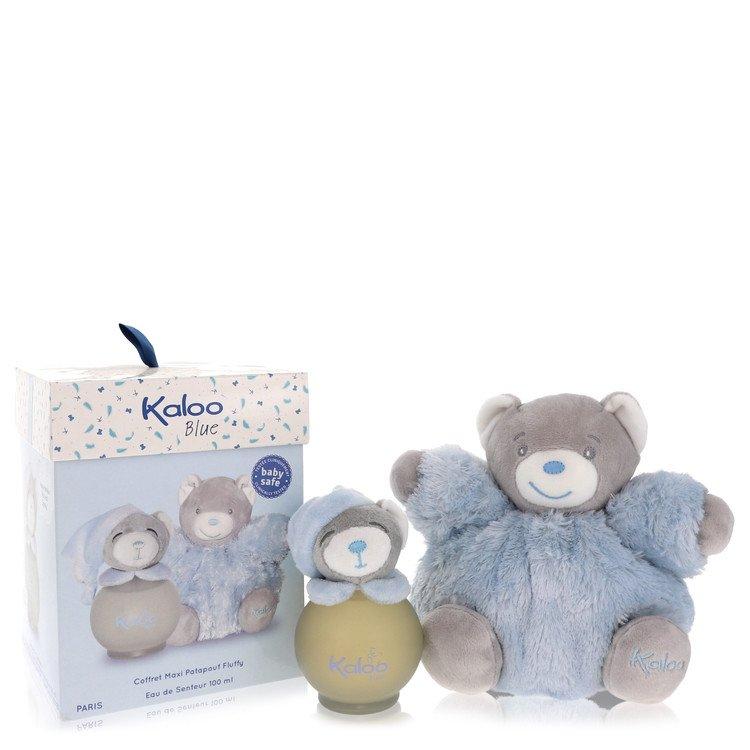 Kaloo Blue by Kaloo –  Eau De Senteur Spray (Alcohol Free) + Free Fluffy Bear 3.2 oz 95 ml for Men