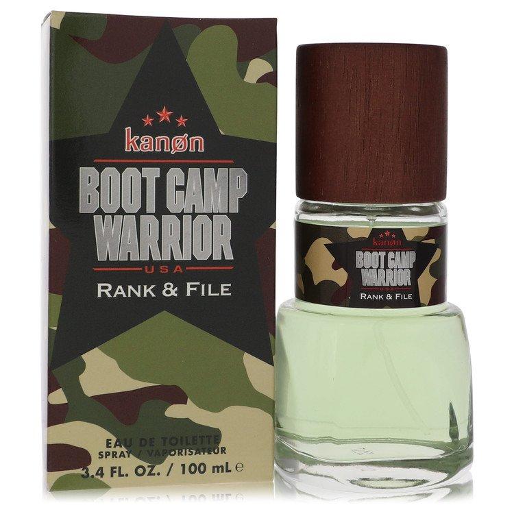 Kanon Boot Camp Warrior Rank & File by Kanon for Men Eau De Toilette Spray 3.4 oz