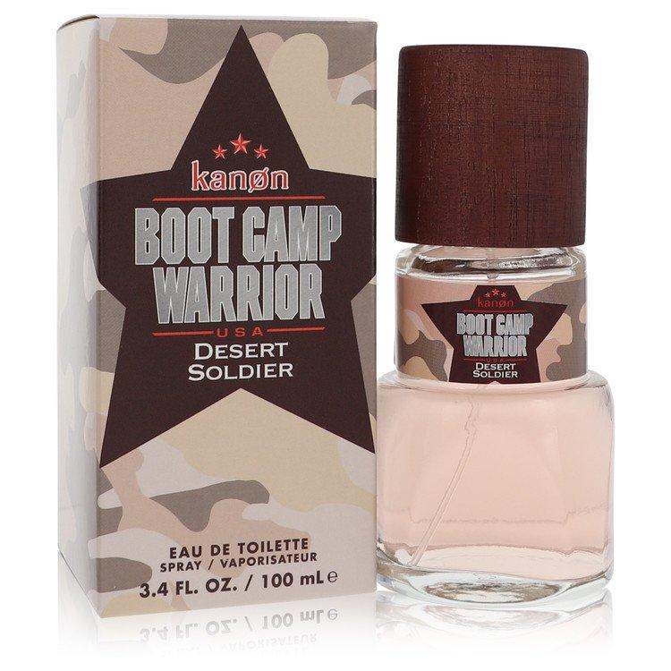 Kanon Boot Camp Warrior Desert Soldier by Kanon for Men Eau De Toilette Spray 3.4 oz