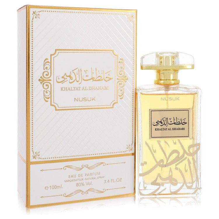 Khaltat Al Dhahabi by Nusuk –  Eau De Parfum Spray (Unisex) 3.4 oz 100 ml