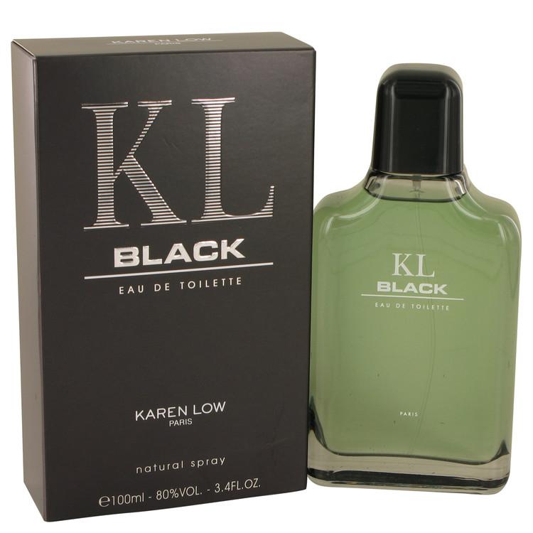 KL Black by Karen Low for Men Eau De Toilette Spray 3.4 oz