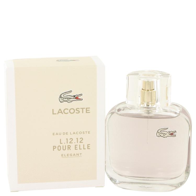 Lacoste Eau De Lacoste L.12.12 Elegant by Lacoste for Women Eau De Toilette Spray 3 oz