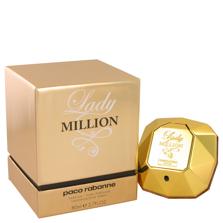 Lady Million Absolutely Gold by Paco Rabanne for Women Eau De Parfum Spray 2.7 oz