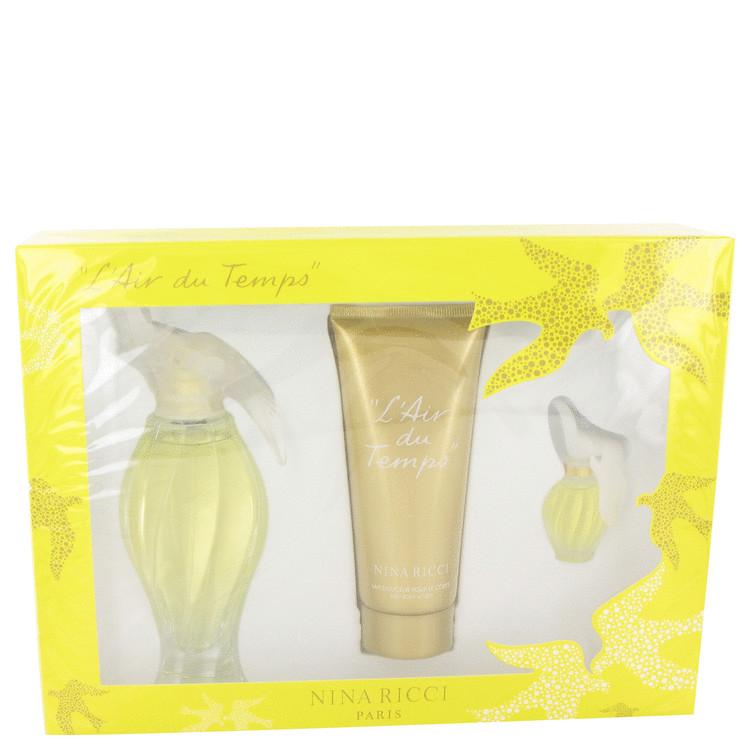 L'air Du Temps for Women, Gift Set (3.3 oz EDT Spray + 3.3 oz Body Lotion + .20 oz Mini EDT Spray)