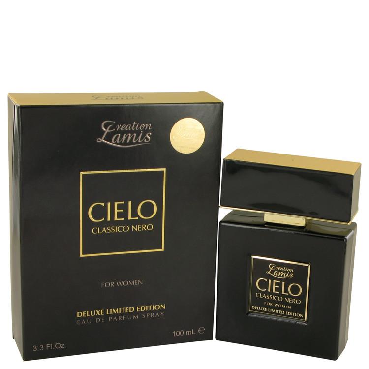 Lamis Cielo Classico Nero by Lamis for Women Eau De Parfum Spray Deluxe Limited Edition 3.3 oz