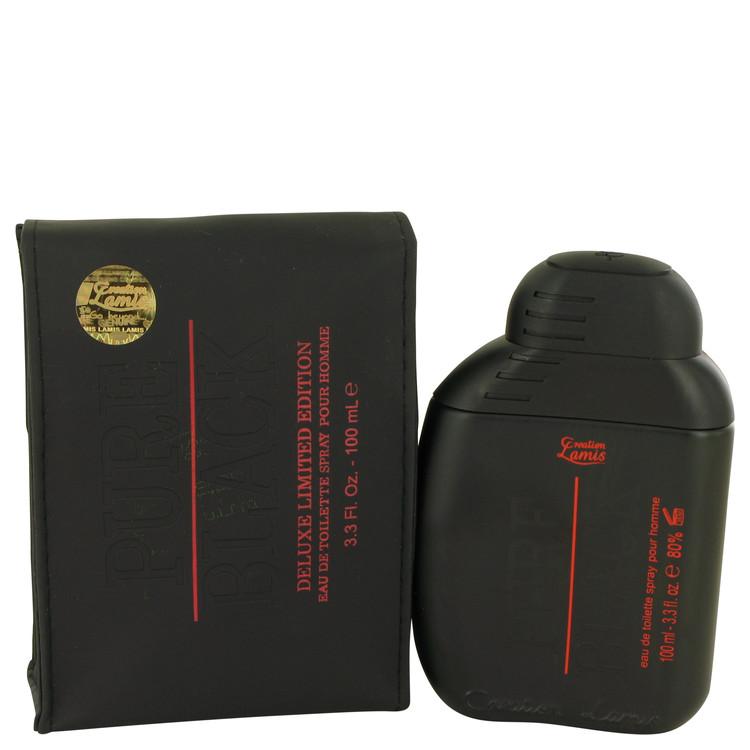 Pure Black Lamis by Lamis for Men Eau De Toilette Spray 3.3 oz