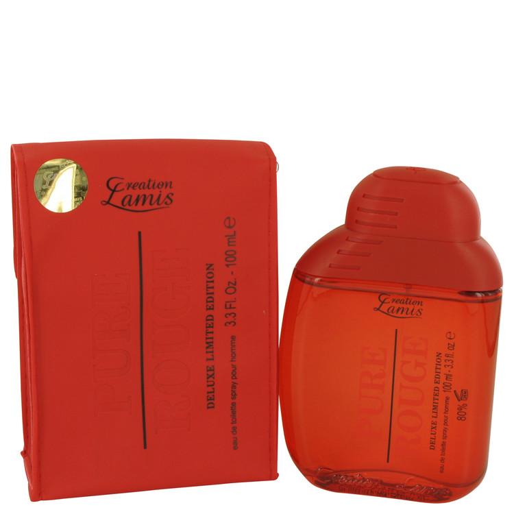 Pure Rouge by Lamis for Women Eau De Toilette Spray 3.3 oz