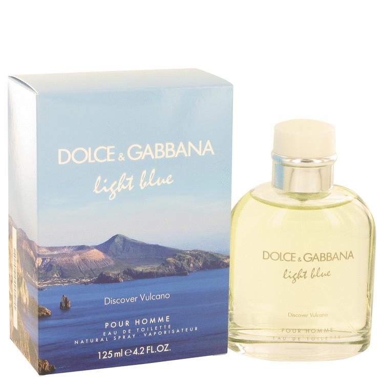 Light Blue Discover Vulcano Cologne 4.2 oz EDT Spay for Men