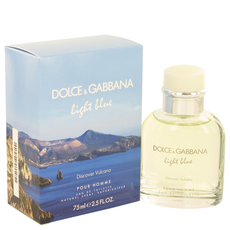 Light Blue Discover Vulcano by Dolce & Gabbana for Men Eau De Toilette Spray 2.5 oz