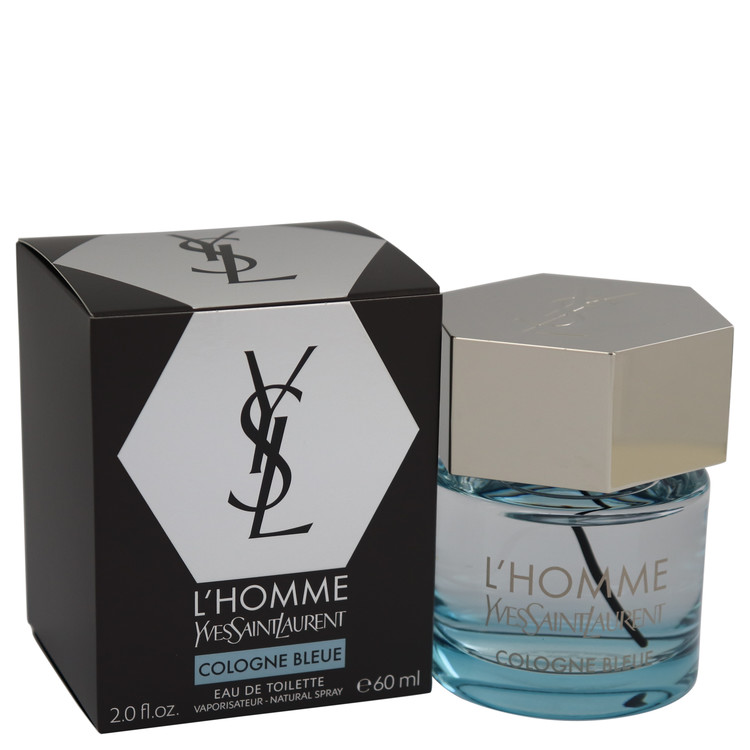 L'homme Cologne Bleue by Yves Saint Laurent –  Eau De Toilette Spray 2 oz 60 ml for Men