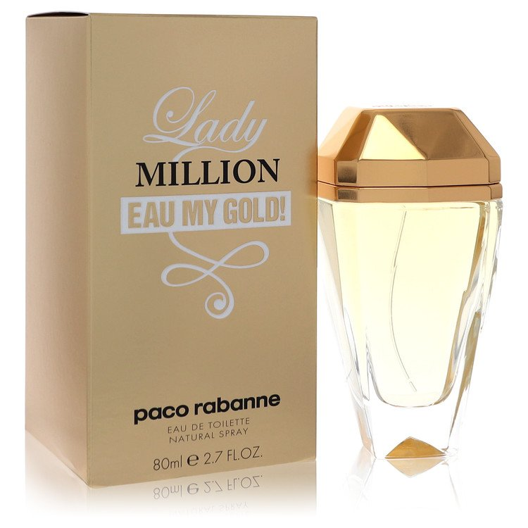 Lady Million Eau My Gold by Paco Rabanne for Women Eau De Toilette Spray 2.7 oz