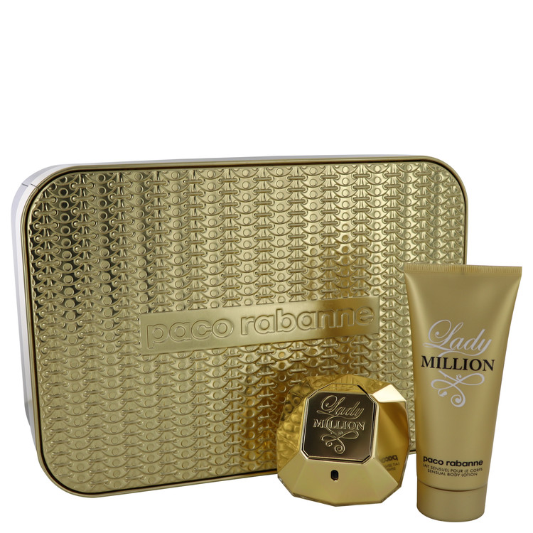 Lady Million by Paco Rabanne Women's Gift Set -- 2.7 oz Eau De Parfum Spray + 3.4 oz Body Lotion