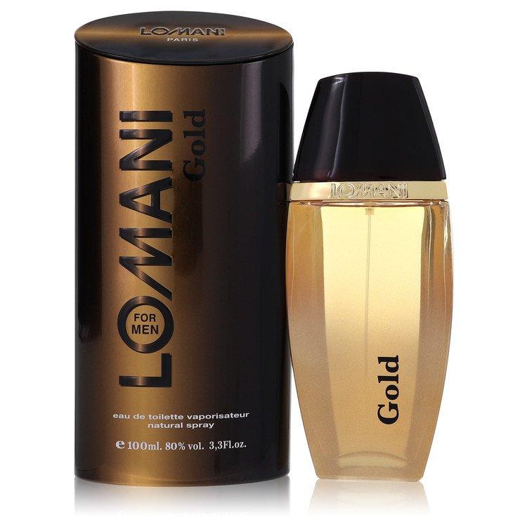 Lomani Gold Cologne by Lomani 3.3 oz EDT Spray for Men