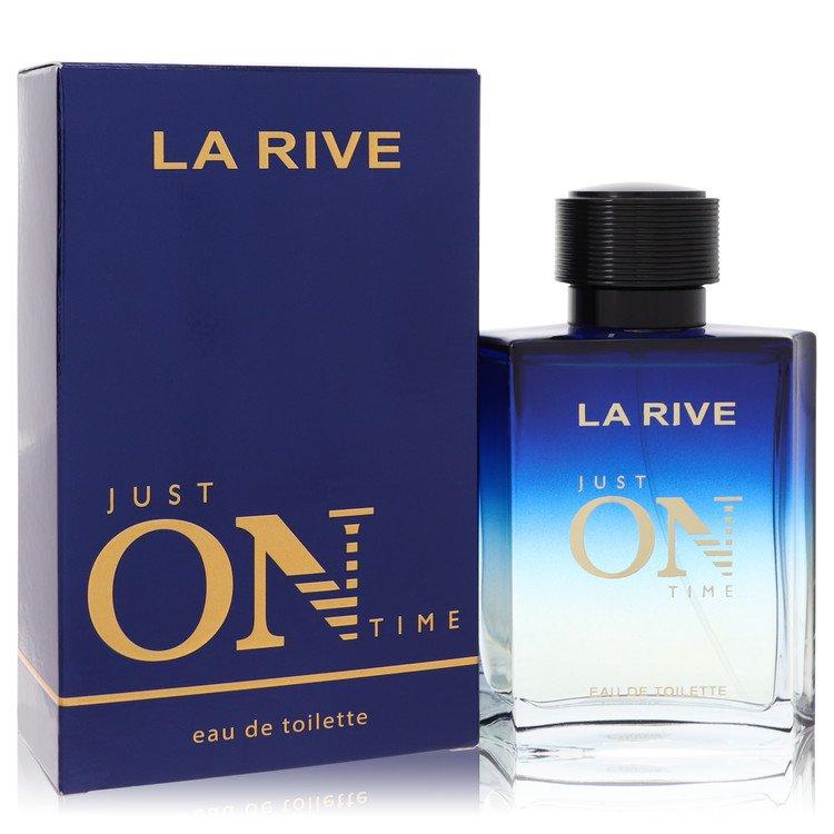 La Rive Just On Time by La Rive –  Eau De Toilette Spray 3.3 oz 100 ml for Men