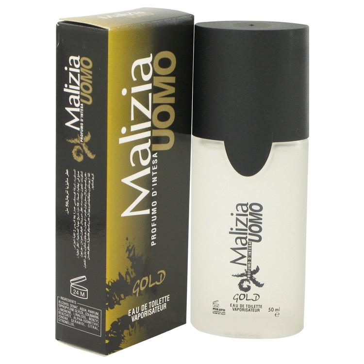Malizia Uomo Gold by Vetyver for Men Eau De Toilette Spray 1.7 oz