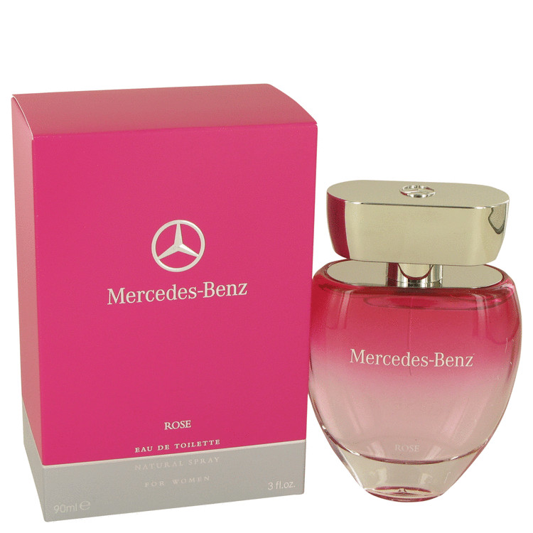 Mercedes Benz Rose by Mercedes Benz for Women Eau De Toilette Spray 3 oz