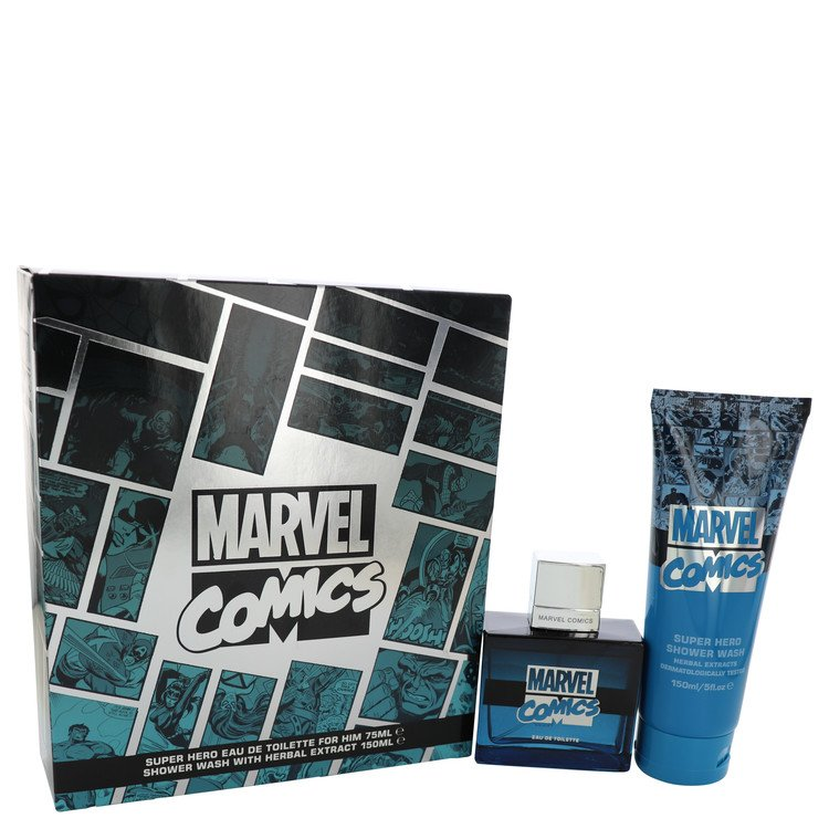 Marvel Comics Super Hero by Marvel for Men Gift Set -- 2.5 oz Eau De Toilette Spray + 5 oz Shower Gel