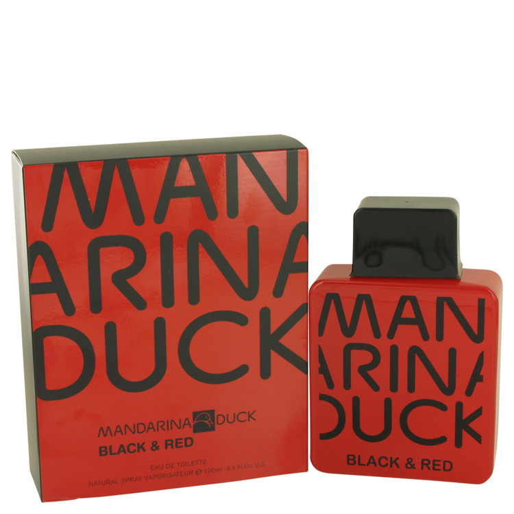 Mandarina Duck Black & Red by Mandarina Duck for Men Eau De Toilette Spray 3.4 oz