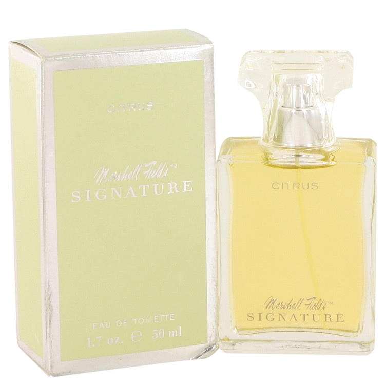 Marshall Fields Signature Citrus by Marshall Fields for Women Eau De Toilette Spray (Scratched box) 1.7 oz