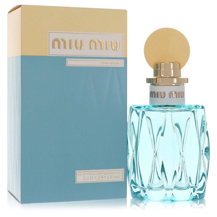 Miu Miu L'eau Bleue by Miu Miu for Women Eau De Parfum Spray 3.4 oz