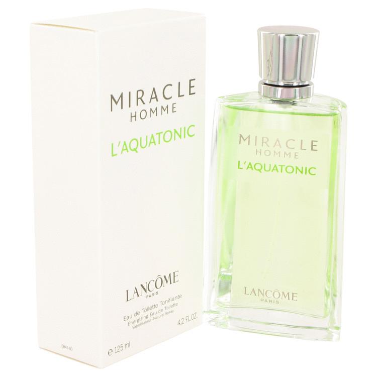 MIRACLE L'AQUATONIC by Lancome for Men Eau De Toilette Spray 4.2 oz