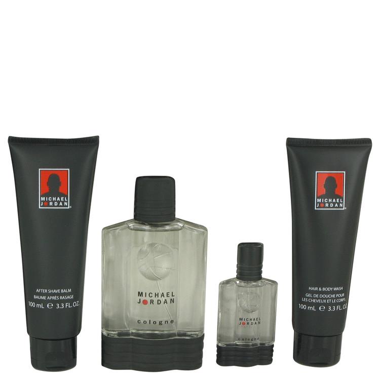 Michael Jordan for Men, Gift Set (3.4 oz Cologne Spray + 1/2 oz Cologne Spray + 3.4 oz After Shave Balm + 3.3 oz Shower Gel)