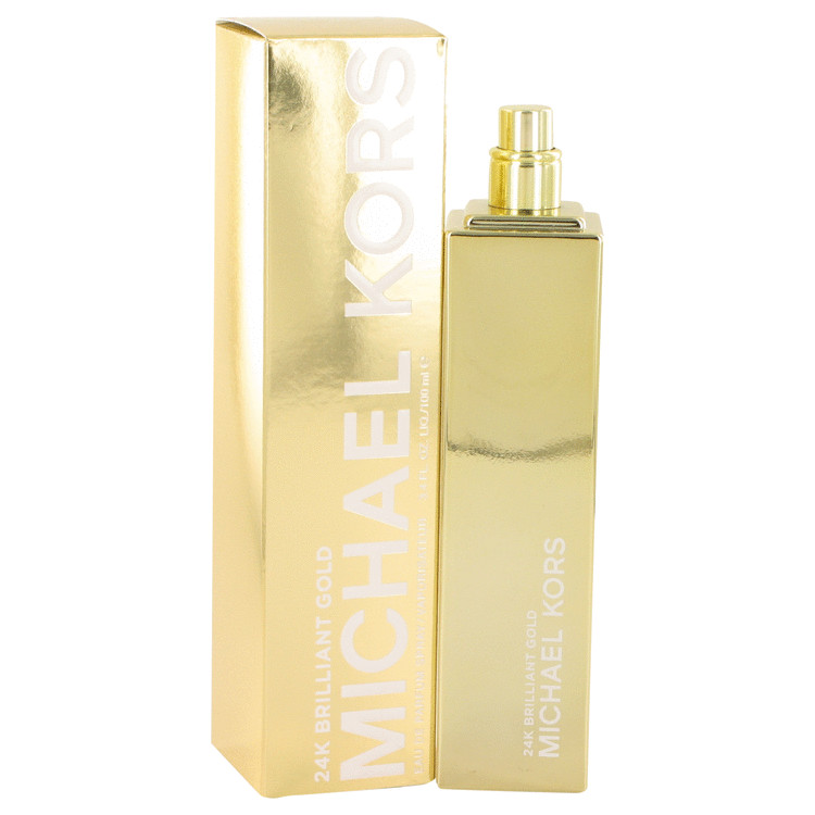 Michael Kors 24K Brilliant Gold by Michael Kors for Women Eau De Parfum Spray 3.4 oz